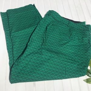 Lane Bryant Textured Green Fitted Ankle Cropped